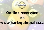 On line rezervace v Harlequinu Praha, kulečníky, Pink pong, laserová střelnice i restaurace!