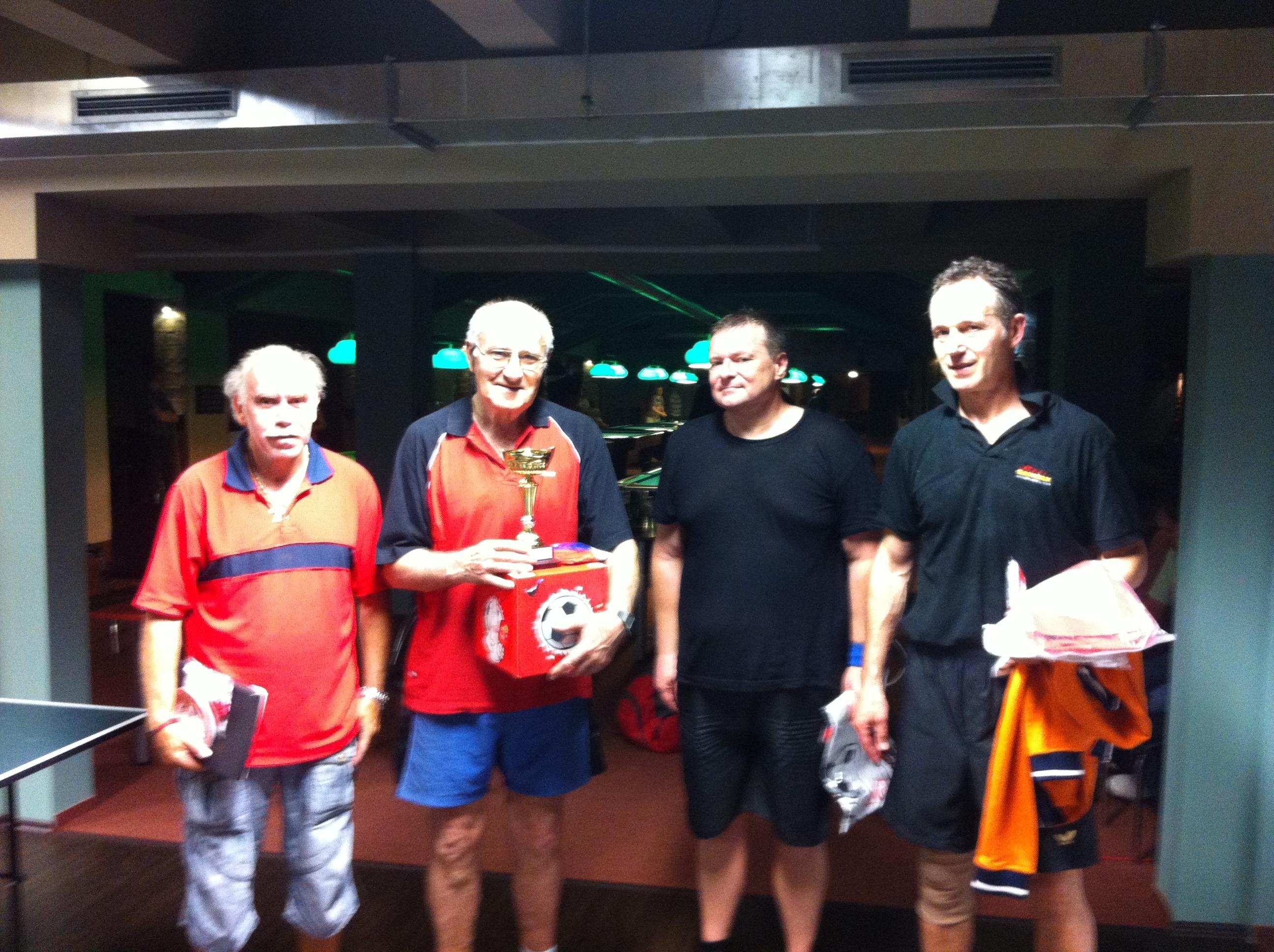 vítězové ping pong 22.5.2012 billiard - kulečník - ping pong Praha 10