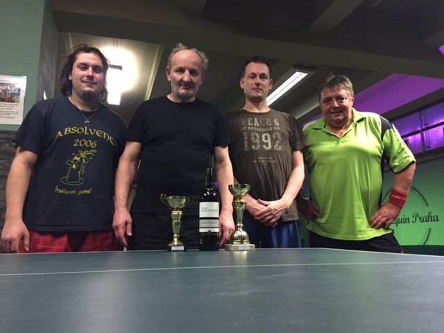 Souhrnné výsledky turnajů ve stolním tenise, jaro 2017 - vede Petr Češka