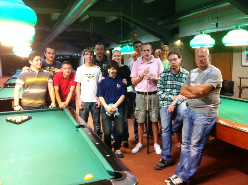 Turnaj mistrů 2012 v poolbilliardu účastníci - kulečník, billiard, ping pong Harlequin Praha 10
