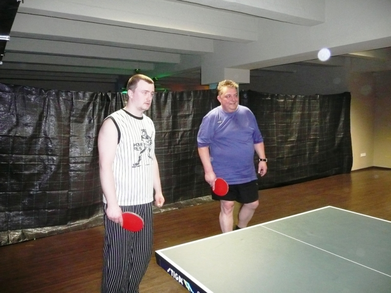 Michal Pecháček a Láďa Doležel kulečníkový billiardový ping pongový klub Harlequin Praha 10