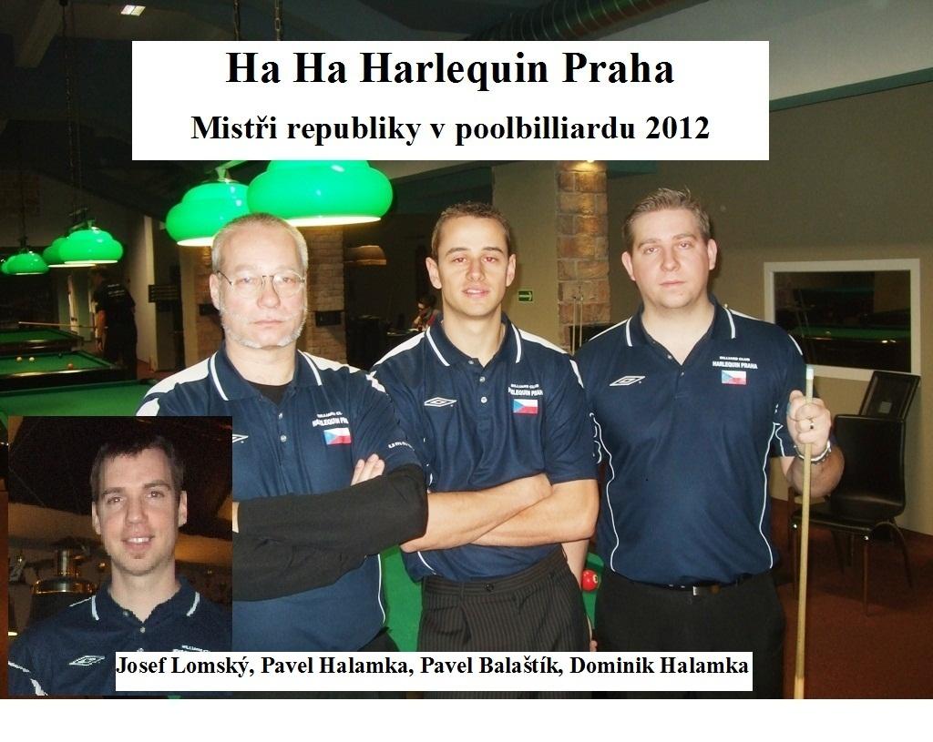 Mistři ČR 2012 Harlequin Praha billiard - kulečník - ping pong Praha 10