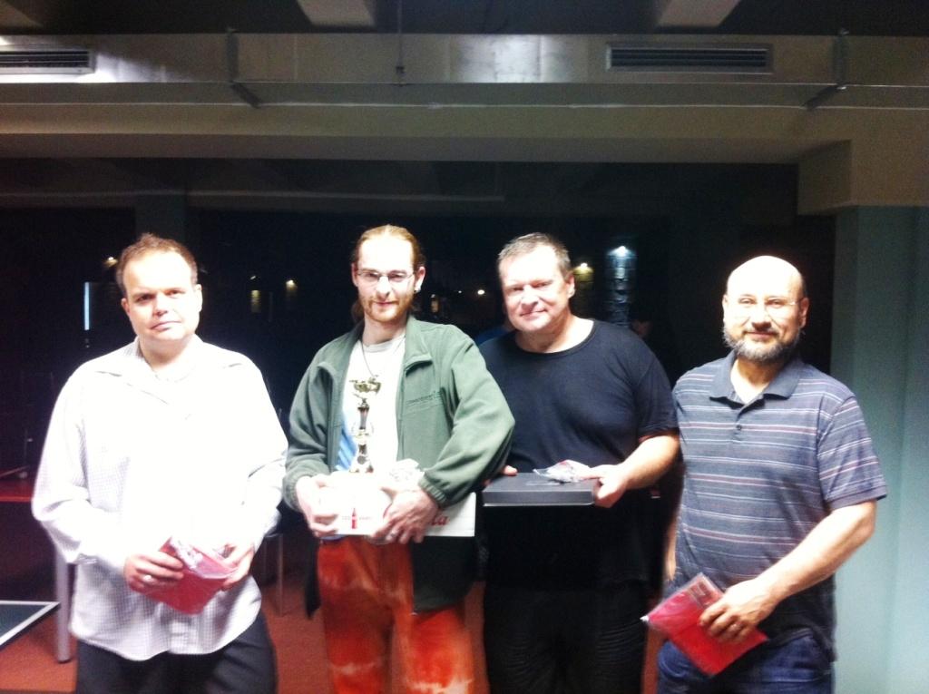 vítězové 29.5.2012 zleva:Novotný, Skopal,Courton a Joska