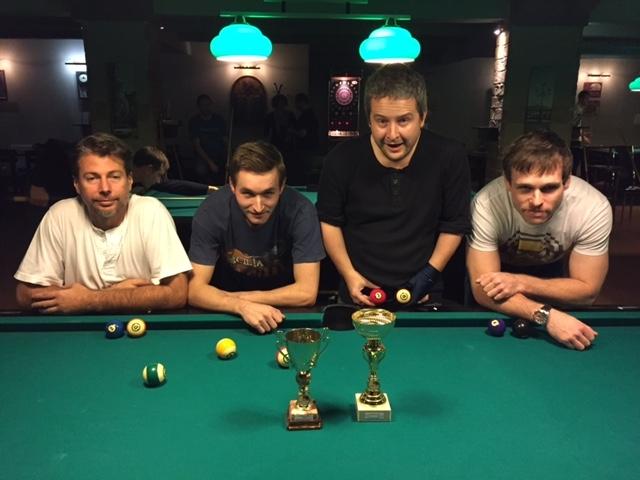 Aktuální výsledky nedělních kulečníkových turnajů v billiardovém klubu Harlequin Praha